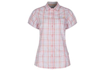 Regatta Great Outdoors Womens/Ladies Jenna Checked Short Sleeve Shirt (Candy Shock) (8)