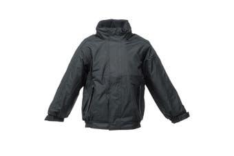 Regatta Kids/Childrens Waterproof Windproof Dover Jacket (Black/Ash) (9-10 Years)