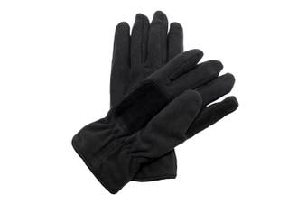 Regatta Unisex Thinsulate Thermal Fleece Winter Gloves (Black)