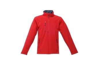 Regatta Mens Hydroforce 3-layer Membrane Waterproof Breathable Softshell Jackets (Classic Red/Black) (XL)