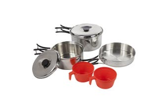 Regatta Great Outdoors Compact Steel Camping Cooking Set (Silver) (One Size)