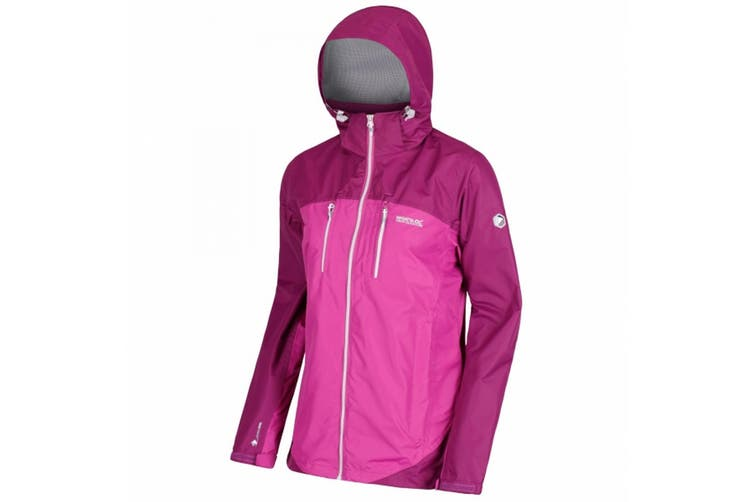 Regatta Great Outdoors Womens/Ladies Calderdale II Breathable Zip Up Jacket (Vivid Viola/Winberry) (16 UK)