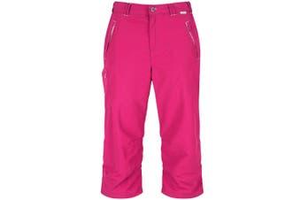 Regatta Great Outdoors Womens/Ladies Chaska 3/4 Capri Shorts (Dark Cerise) (12)