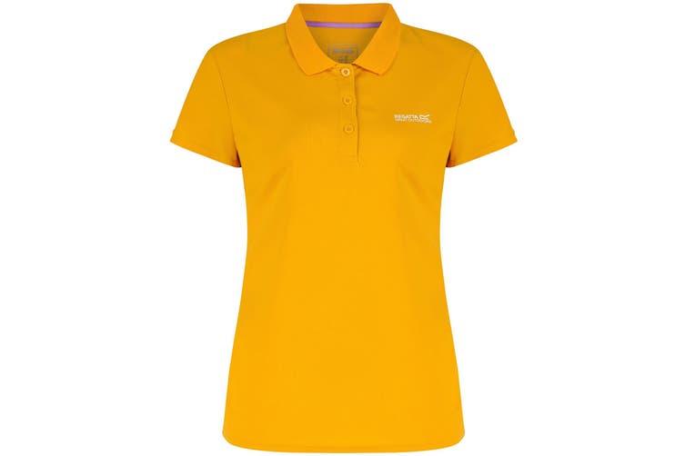 Regatta Great Outdoors Womens/Ladies Maverik III Short Sleeve Polo Shirt (Gold Heat) (18)
