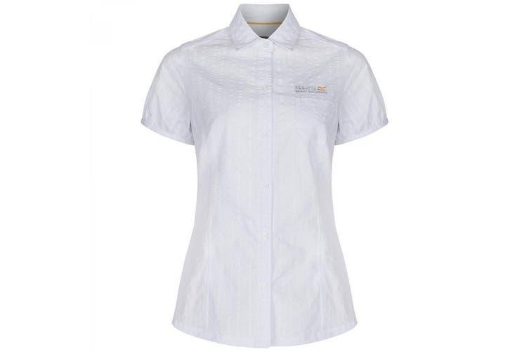 Regatta Great Outdoors Womens/Ladies Jerbra Short Sleeve Summer Shirt (White) (20)