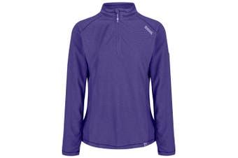 Regatta Great Outdoors Womens/Ladies Montes Half Zip Fleece Top (Elderberry/Elderberry)