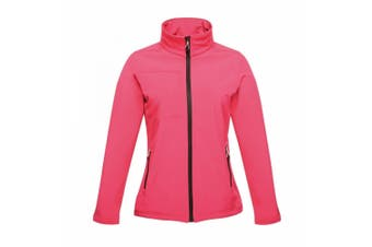 Regatta Professional Womens/Ladies Octagon II Waterproof Softshell Jacket (Hot Pink/Black) (20)