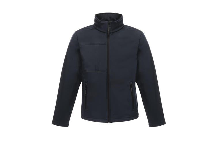 Regatta Professional Mens Octagon II Waterproof Softshell Jacket (Navy/Seal Grey) (2XL)