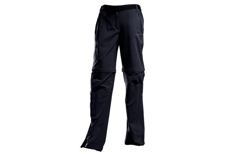 Regatta Great Outdoors Womens/Ladies Xert II Quick Drying Convertible Walking Trousers (Black) (18)