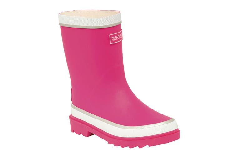 Regatta Great Outdoors Childrens/Kids Foxfire Wellington Boots (Jem/White) (UK Child 12)