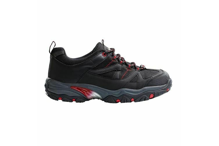 Regatta Hardwear Mens Riverbeck Wide Fitting Safety Trainers (Black/Red) (9 UK)