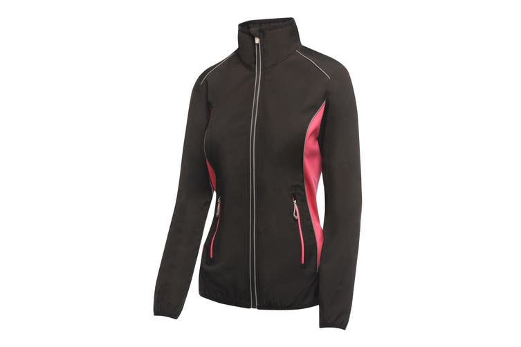 Regatta Activewear Womens/Ladies Sochi Softshell Jacket (Black/Hot Pink) (14)