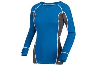 Regatta Great Outdoors Womens/Ladies Beru Base Layer Top (Petrol Blue/Magnet Grey) - UTRG2897
