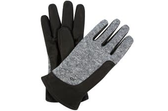 Regatta Mens Gerson Leather Gloves (Black)