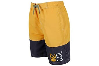 Regatta Great Outdoors Childrens Boys Shaul Swimming Shorts (Old Gold/Iron)