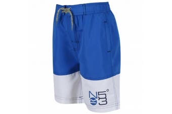 Regatta Great Outdoors Childrens Boys Shaul Swimming Shorts (Sky Diver Blue/White)