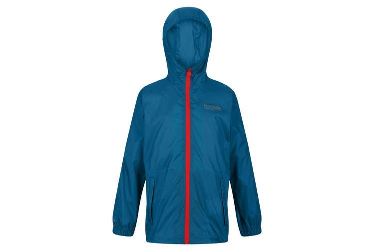 Regatta Great Outdoors Childrens/Kids Pack It Jacket III Waterproof Packaway Black (Olympic Teal) (7-8 Years)