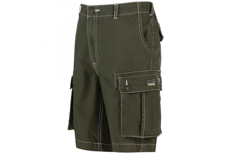 Regatta Childrens/Kids Shorefire Coolweave Cotton Canvas Shorts (Ivy Green) (3-4 Years)