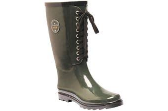 Regatta Womens/Ladies Lady Bayeux II Shoes (Dark Olive/Black) (3 UK)