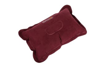 Regatta Soft Touch Inflatable Pillow With Storage Bag (Burgundy) (One Size)