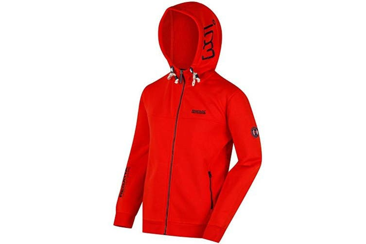 Regatta Mens Dinnsmore Cotton Drawback Hoodie (Amber Glow) (XXL)