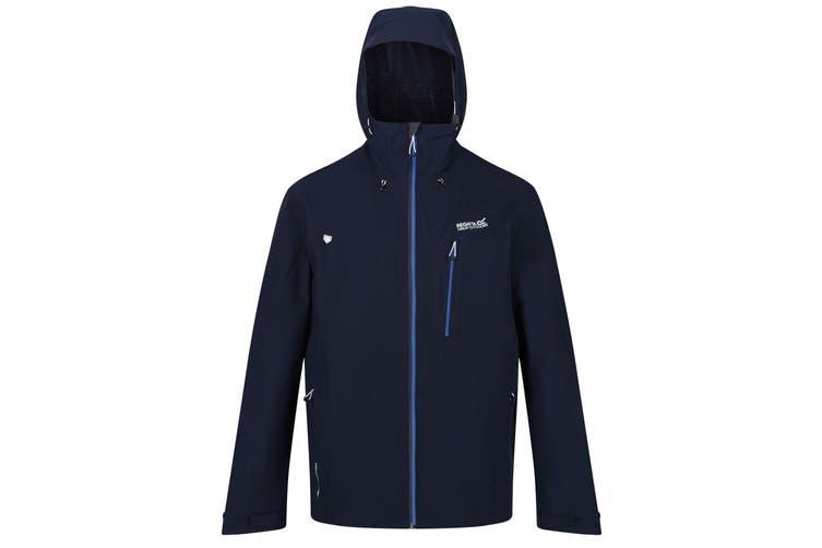 Regatta Mens Birchdale Waterproof Hooded Jacket (Navy/Nautical) (M)