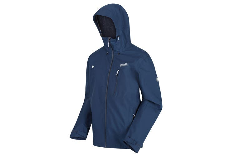 Regatta Mens Birchdale Waterproof Hooded Jacket (Dark Denim) (L)