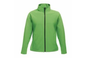 Regatta Womens/Ladies Ablaze Printable Softshell Jacket (Extreme Green/Black) (20 UK)