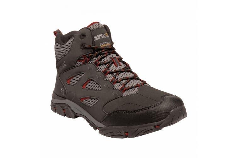 Regatta Mens Holcombe IEP Mid Hiking Boots (Traffic Black/Rio Red) (9 UK)