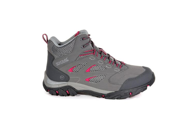 Regatta Womens/Ladies Holcombe IEP Mid Hiking Boots (Steel/Vivacious) (3 UK)