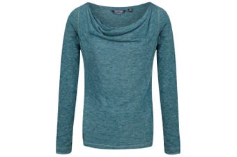Regatta Womens/Ladies Frayda Long Sleeved T-Shirt (Deep Teal) (UK Size 14)