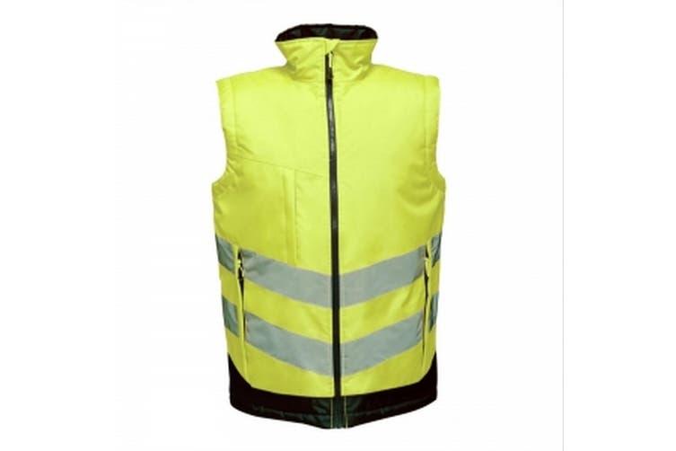 Regatta Professional Mens Hi Vis Pro Body Warmer (Yellow/Navy) (M)