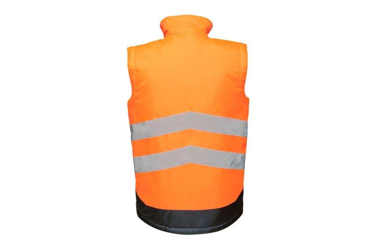 Regatta Professional Mens Hi Vis Pro Body Warmer (Orange/Navy) (M)