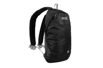 Regatta Unisex Adults Marler 10 Litre Hardwearing Reflective Padded Backpack Bag (Black/Light Steel) (One Size)