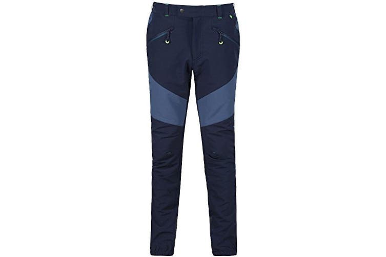 Regatta Great Outdoors Mens Mountain Active Stretch Trousers (Navy/Dark Denim) (44R)