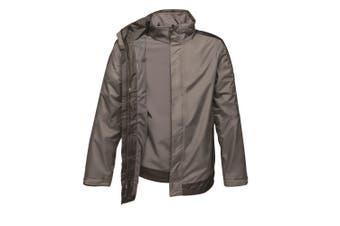 Regatta Mens Contrast 3 In 1 Jacket (Seal Grey/Black) (L)