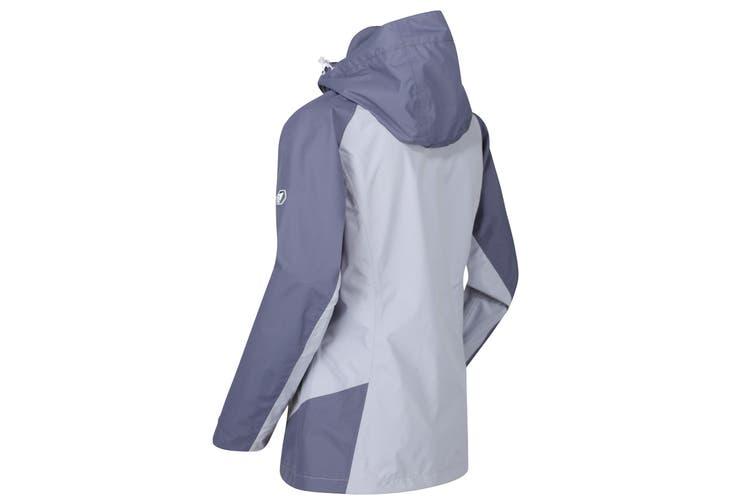 Regatta Womens/Ladies Calderdale III Lightweight Waterproof Jacket (Dapple Grey/Onyx Grey) (12 UK)