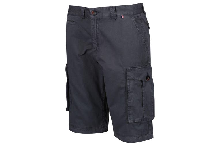 Regatta Mens Shorebay Vintage Cargo Shorts (Seal Grey) (32in)