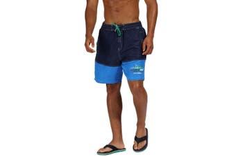 Regatta Mens Bratchmar III Quick Drying Swim Shorts (Navy/Oxford Blue)