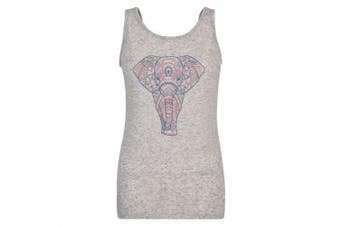 Dare 2b Womens/Ladies Elephant Printed Open Back Vest (Argent Grey)