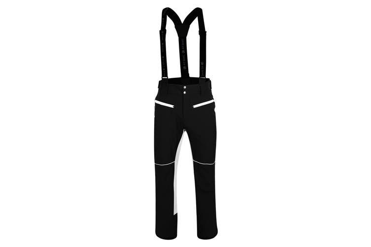 Dare 2B Mens Intrinsic Ski Pants (Black/White) (XS)