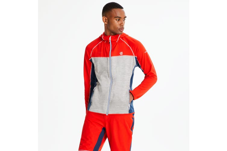 Dare 2B Mens Ratified Core Stretch Midlayer (Fiery Red/Ash/Admiral Blue) (XL)