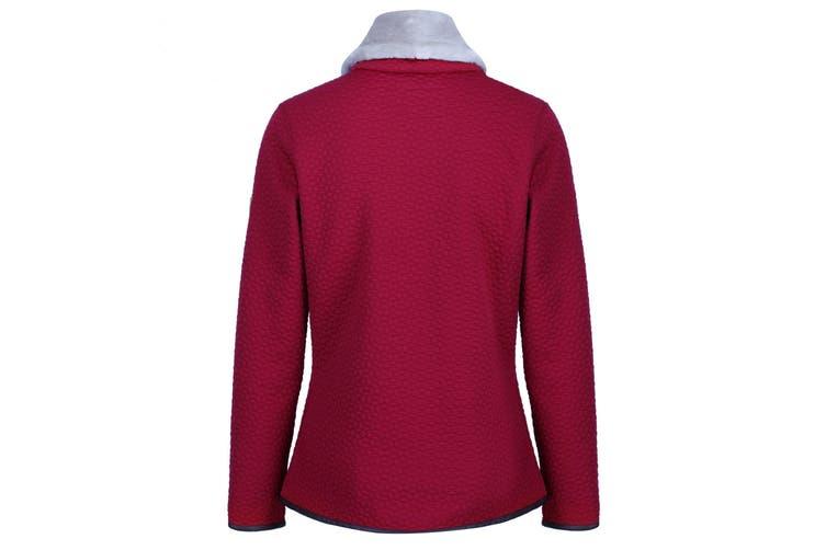 Regatta Womens/Ladies Tayla Faux Fur Trimmed Fleece (Delhi Red) (18 UK)