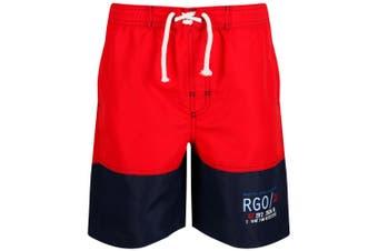Regatta Childrens/Boys Shaul II Swim Shorts (Pepper/Navy)