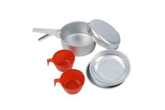 Regatta 2 Person Aluminium Cook Set (Silver/Red) (One Size)
