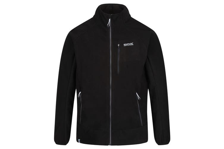 Regatta Mens Sheltor Showerproof Heavyweight Fleece Jacket (Black) (S)