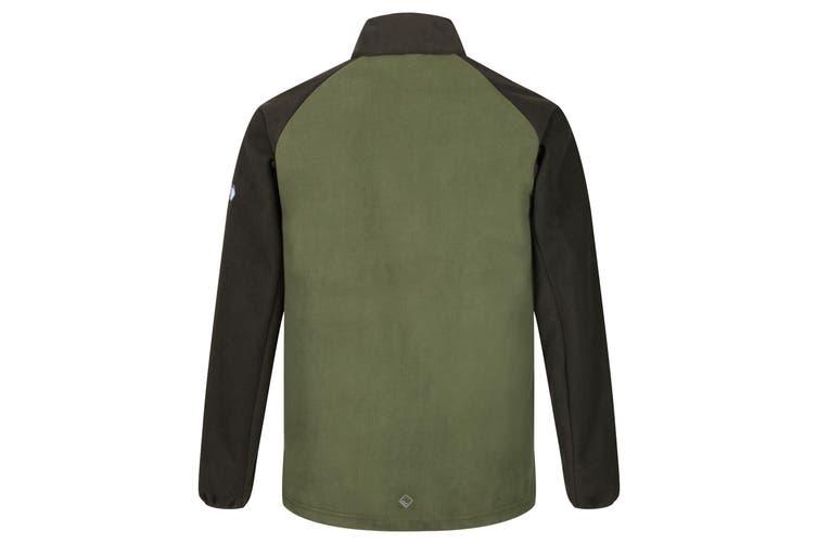 Regatta Mens Sheltor Showerproof Heavyweight Fleece Jacket (Cypress Green/Bayleaf) (S)