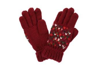 Regatta Womens/Ladies Frosty III Gloves (Delhi Red) (L/XL)
