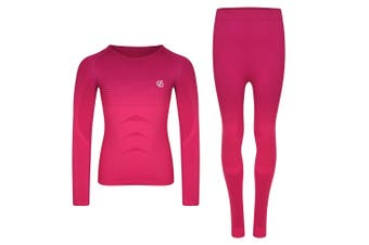 Dare 2B Childrens/Kids In The Zone Base Layer Set (Cyber Pink Gradient) - UTRG4699
