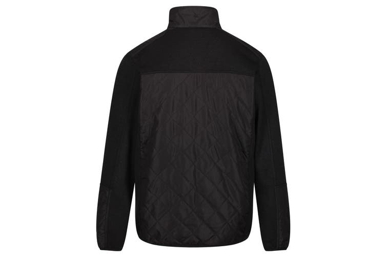 Dare 2B Mens Zavid Quilted Full Zip Fleece (Black) (S)